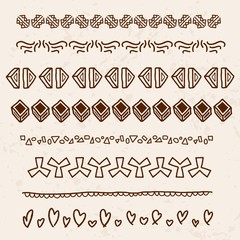Scribble dividers - vector illustration