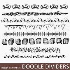 Dividers set - vector illustration