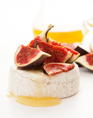 Camembert cheese, figs and honey
