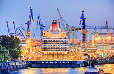 Hamburg Schriftzug Werft