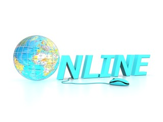 Online - concept