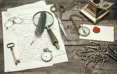 antique office supplies and writing accessories. nostalgic still