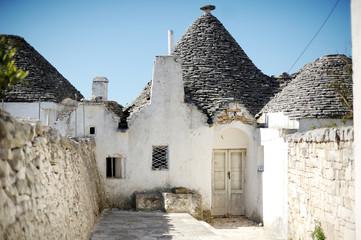 Typical trulli houses in Alberobello, Italy