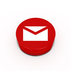 3d Mail Web Button - isolated