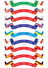 Ribbons flags