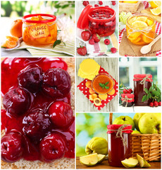 Sweet jam collage