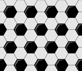 Background pattern of soccer ball pentagons