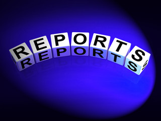 Reports Dice Represent Reported Information or Articles