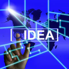 Idea Screen Means Worldwide Concept Thought or Ideas