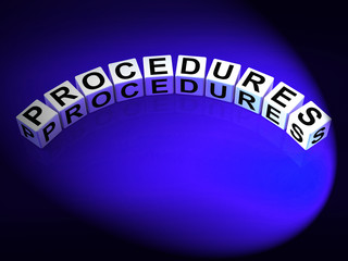 Procedures Dice Represent Strategic Process and Steps