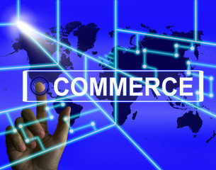 Commerce Screen Shows Worldwide Commercial and Financial Busines