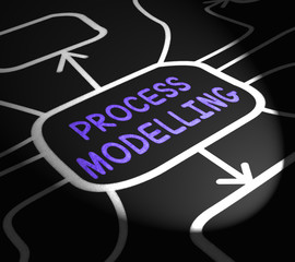 Process Modelling Arrows Shows Illustration Of Business Processe