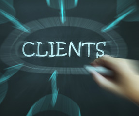 Clients Diagram Shows Customers Consumers And Clientele