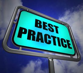 Best Practice Signpost Indicates Better and Efficient Procedures