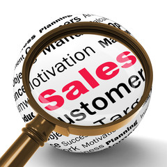 Sales Magnifier Definition Means Price Reduction And Clearances