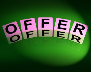 Offer Dice Mean Promote Propose and Submit