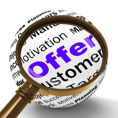 Offer Magnifier Definition Shows Special Prices Or Promotions