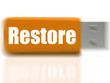 Restore USB drive Shows Data Security And Restoration
