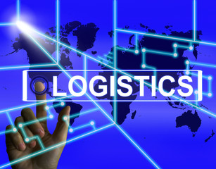 Logistics Screen Indicates Logistical Strategies and Internation