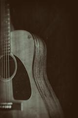 Acoustic Guitar Vintage Image