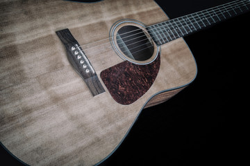 Acoustic Guitar on Black 1