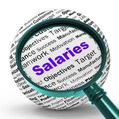 Salaries Magnifier Definition Means Employer Earnings Or Incomes
