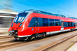 canvas print picture - Modern high speed train