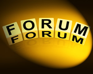 Forum Dice Show Advice or Social Media or Conference