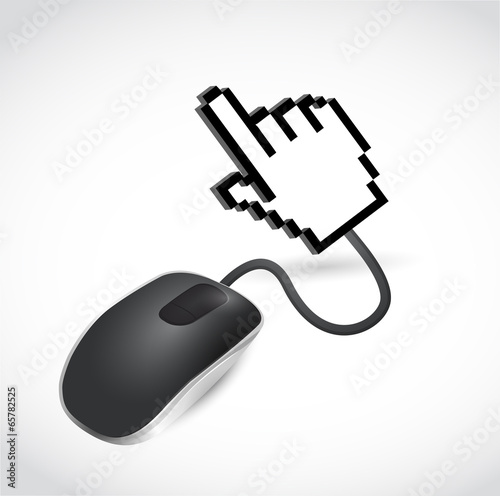 mouse and hand cursor. illustration design