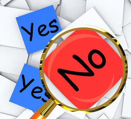 Yes No Post-It Papers Show Accept Or Decline