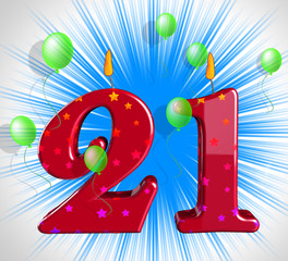 Number Twenty One Party Mean Adult Celebration Or Party