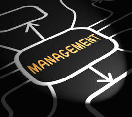 Management Arrows Means Administration Executives And Bosses