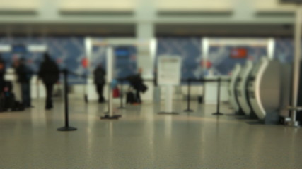 Airport Travelers Check-in Area Tilt Shift