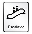 escalator related public information sign