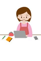 主婦とパソコン
