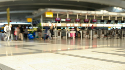 Airport Travelers Time Lapse Tilt Shift