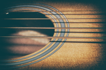 Acoustic Bass Strings and Sound Hole