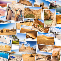 Tunisia Collage. Parts of the country.