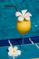 Tropical cocktail at the swimming pool