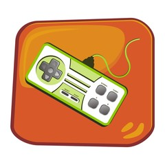 video game console theme art