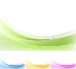 Abstract wavy backgrounds. Gradient mesh