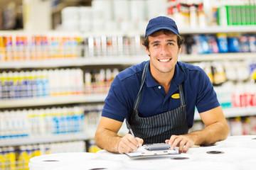 male hardware store worker