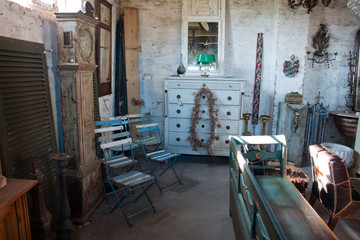 Classical vintage antiques shop