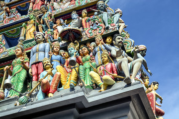 Details of Sri Mariamman Hindu Temple in Singapore.
