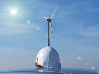 the  wind turbine and the helmet