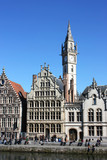Belgium - Ghent / channel and facades