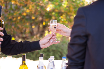 servire calice di vino