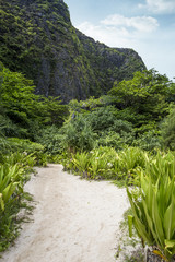 The path to maya beach