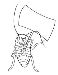 Раскраска таракан