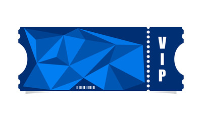 Vector ticket with modern triangle design